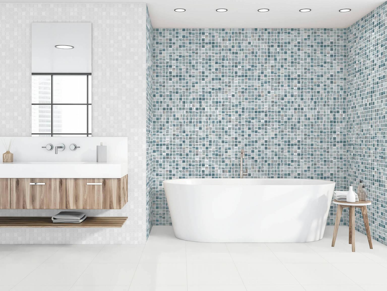Mosaico Acuarela Lavanda - Mosaico Perla | Hispania Cerámica