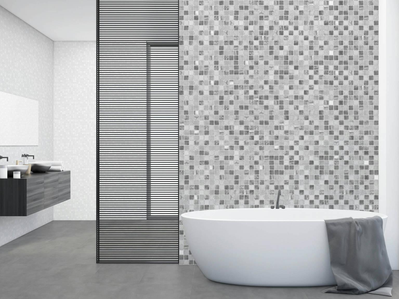 Mosaico Cemento - Mosaico Blanco | Hispania Cerámica