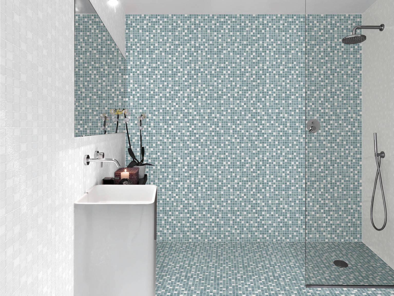 Mosaico Lavanda - Mosaico Blanco | Hispania Cerámica